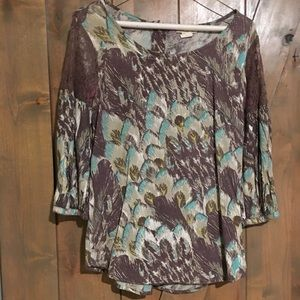 Billabong purple design blouse